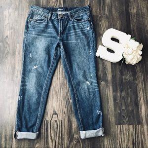 BDG Slim Boyfriend Medium Wash Distressed Jeans